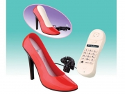 Das originelle und stylische High Heel Telefon in Rot