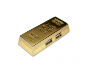 Goldbarren Hub USB
